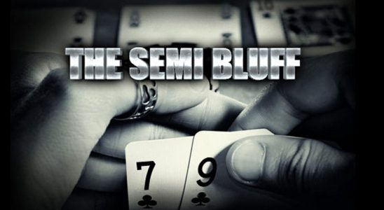 Semi Bluffing in Poker